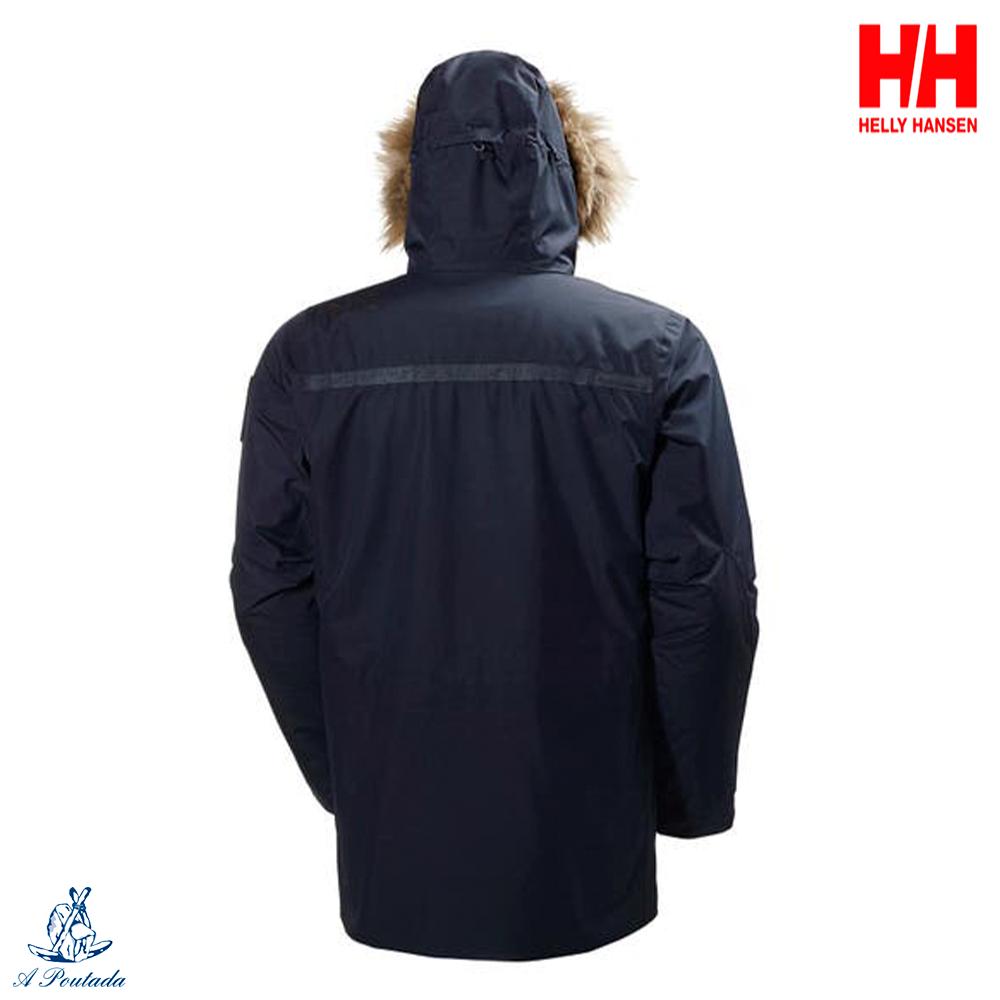 Cortaviento y Transpirable para Hombre para el Uso Diario Azul Helly Hansen Dubliner Parka Chaqueta 3//4 Impermeable M Marino